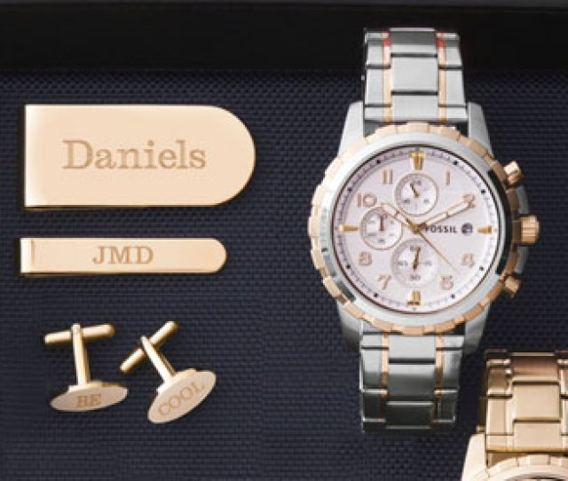Fossil Watch And Gold Accessories Found In Graduation Gifts For Him