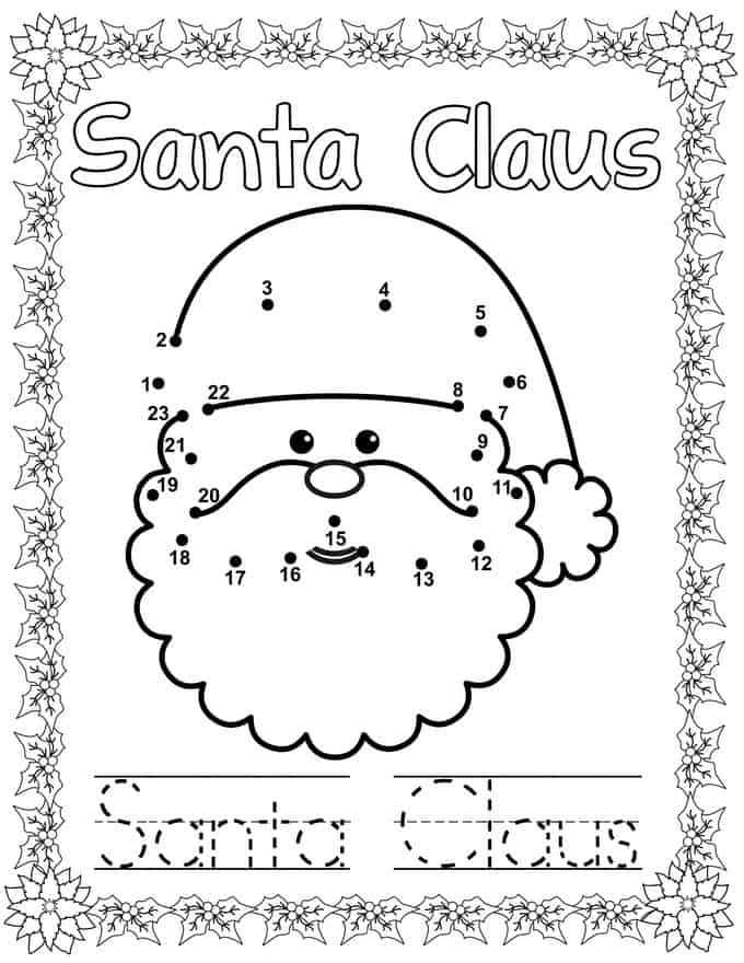 Printable Christmas Dot To Dot Coloring Book Share Remember Celebrating Child Home