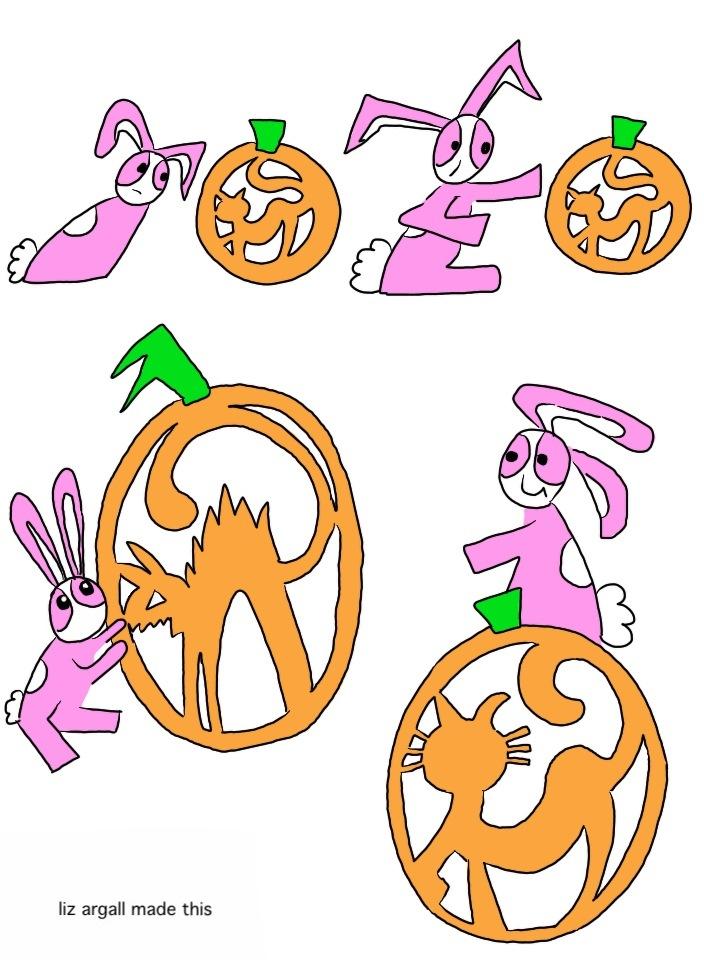 79: bunny vs pumpkin cat – the return