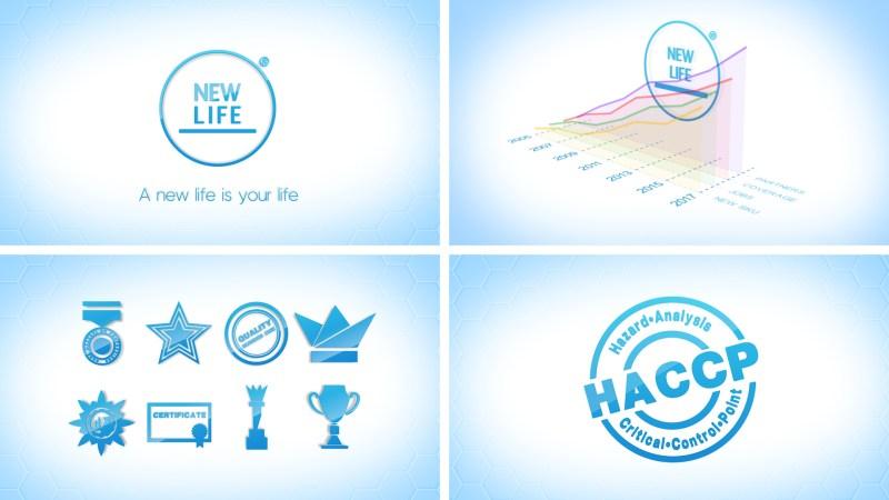 Графические элементы корпоративного ролика Новая Жизнь