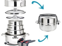 Magma A10-360L-IND Nesting Stainless Steel Cookware