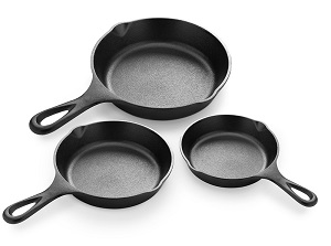 Simple Chef 3-Piece Cast Iron Set