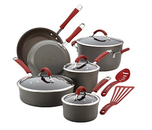 Rachael Ray Cucina Hard-Anodized Nonstick Cookware 12-Piece