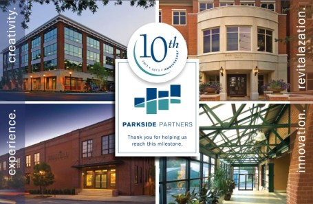 Parkside Partners 10th Anniversary Postcard