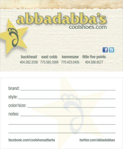 Abbadabbas Business Card Design