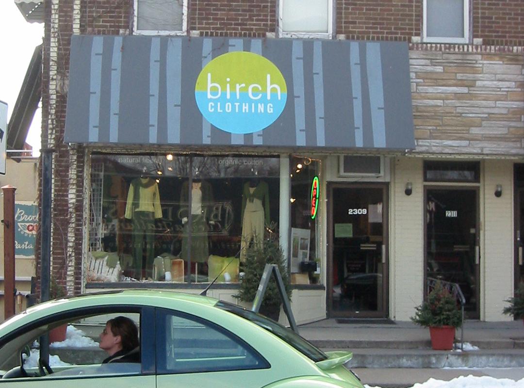 Birch clothing awning