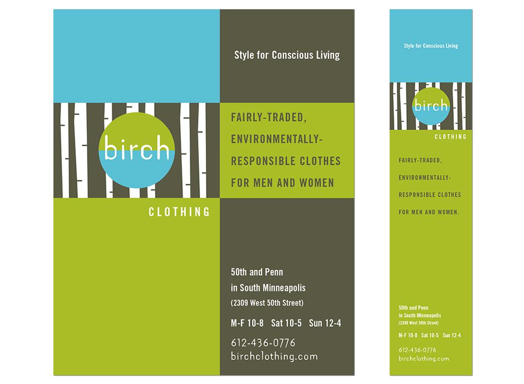 Birch Clothing ads