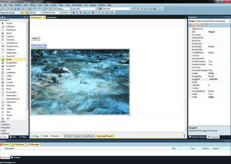 Working with images is easy with  Visual Studio