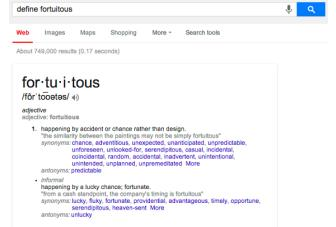 Google updates definition in Search with sample sentences, synonyms and more