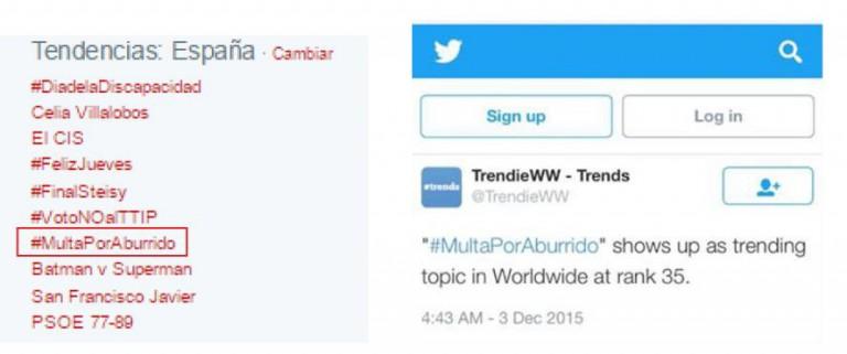 #MULTAPORABURRIDO trending topic