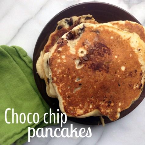 choco chip pancakes