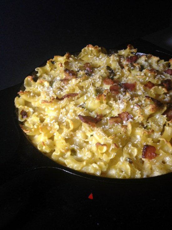 bacon brussels mac & cheese
