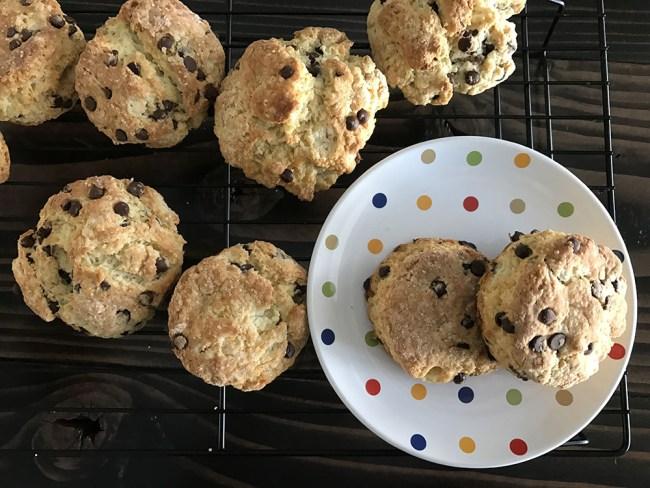 chocolate chip buttermilk scones