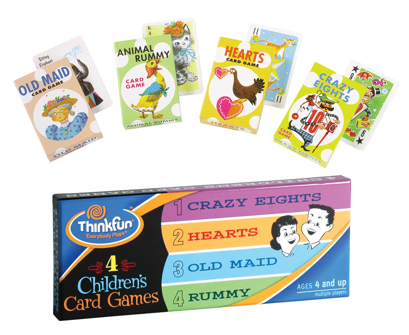 4 children s card games thinkfun