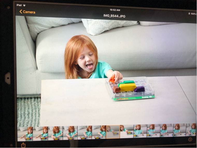 During the My First Rush Hour photoshoot, 4-year-old Janice had a blast!