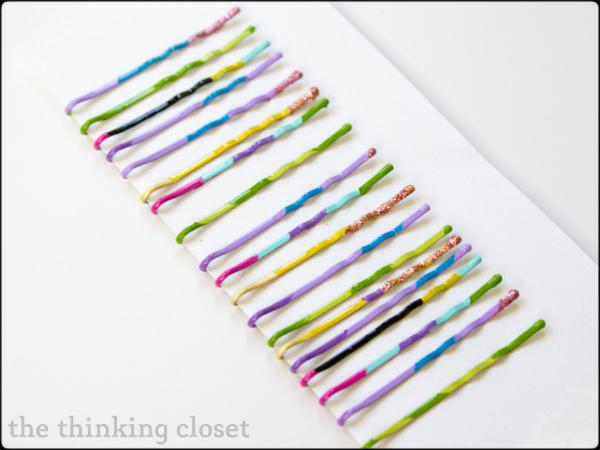 Color Blocked Bobby Pin Tutorial | The Thinking Closet