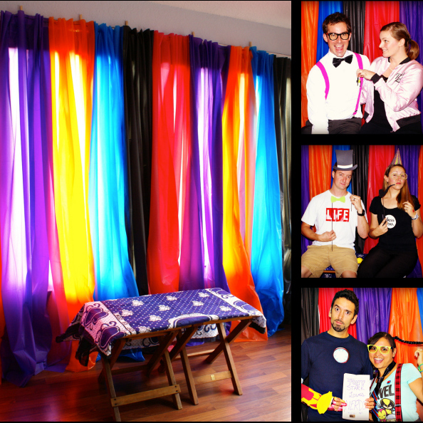 d i y photo booth backdrop for 10