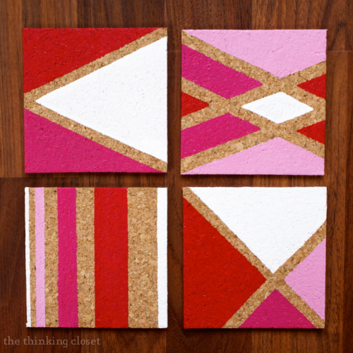 11 cheap and easy gifts for teens to give to mom on Mother's Day! - DIY Painted Cork Coasters.