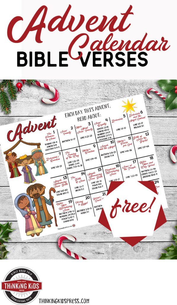 Christmas Advent Calendar with Bible Verses