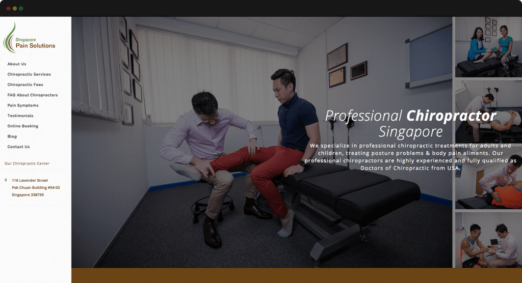 Singapore Pain Solutions Website