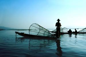 Fishermen on Inle Lake, Myanmar.