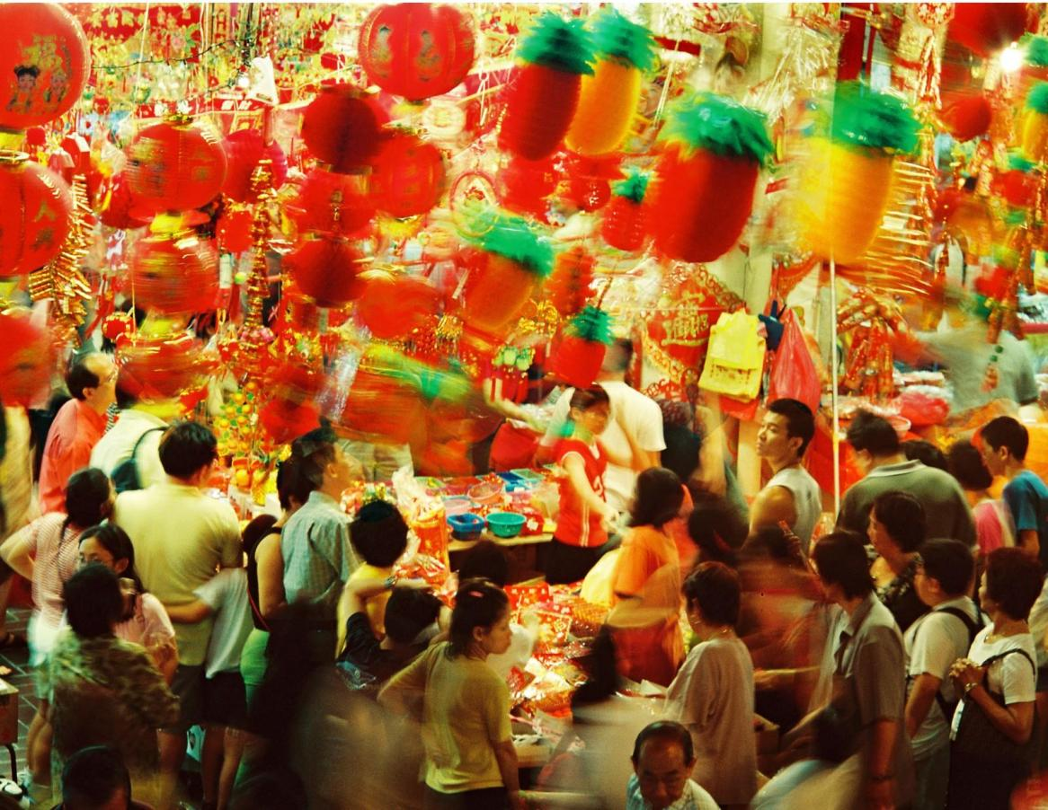 Chinese New Year is a busy time in colourful and bustling Singapore.