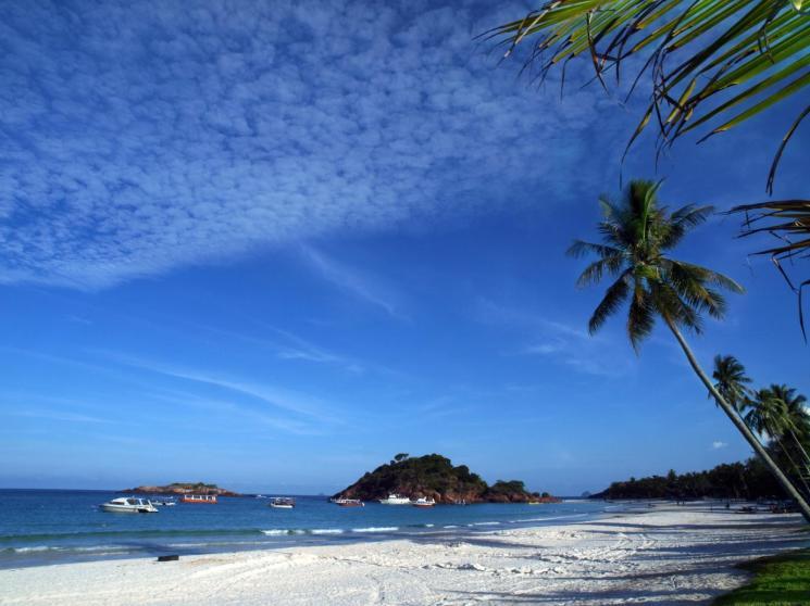 One of the white, sandy beaches on Redang Island on Malaysias East Coast.