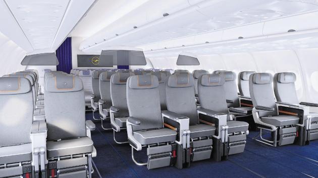 Lufthansa Premium Economy cabin.