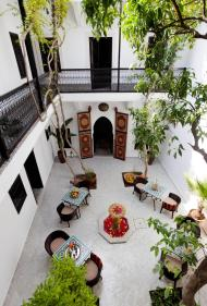 Der Innenhof eines Riads von Origin Hotels in der Medina von Marrakesch
