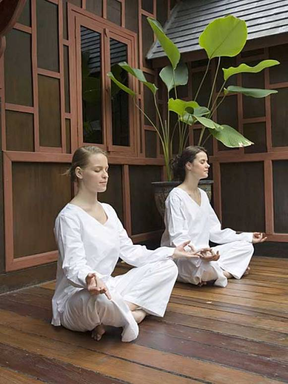 Meditation in Thailand. Spirituality is easy to find wher ever you go.