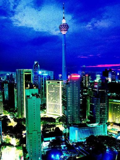 KL Tower, aka Menara Tower, in Kuala Lumpur.