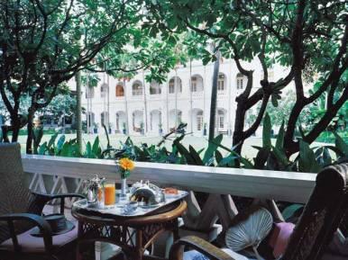 The verandah of a Raffles Courtyard Suite, Singapore.