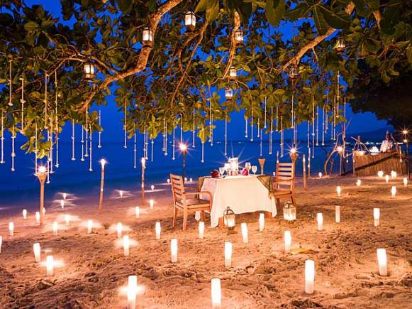 Romantic dinner prepared at The Sarojing, Kao Lak.