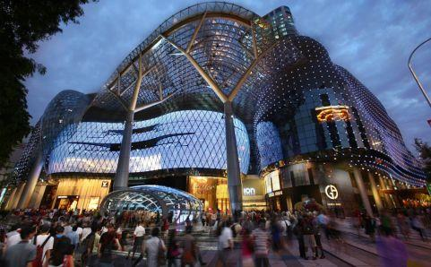 Exterior of ION Orchard in Singapore.