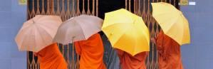 Monks in Phnom Penh in Cambodida.