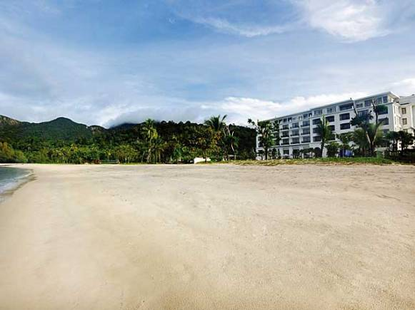 Beach at The Danna on Langkawi, Malaysia.