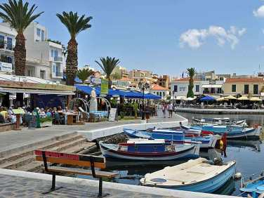 The boardwalk in Agios Nikolaos, Crete.