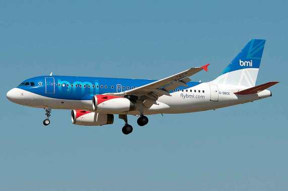 BMI Airbus A319 landing at Palma De Mallorca. Courtesy of Wikipedia.