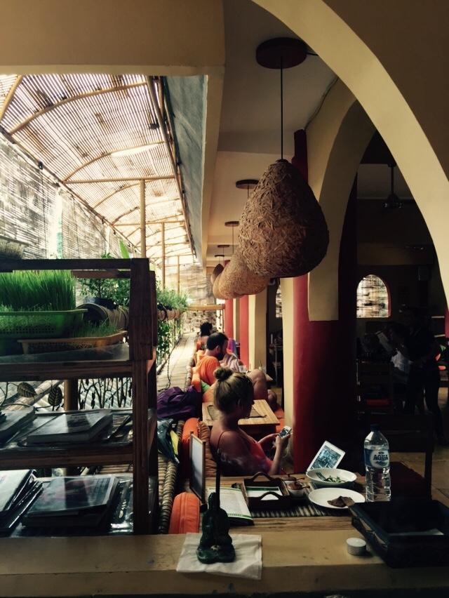 Down To Earth Restaurant in Ubud, Bali.