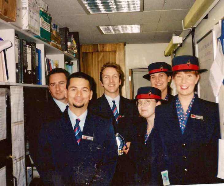 British Midland, BMI, staff end of 1990´s.