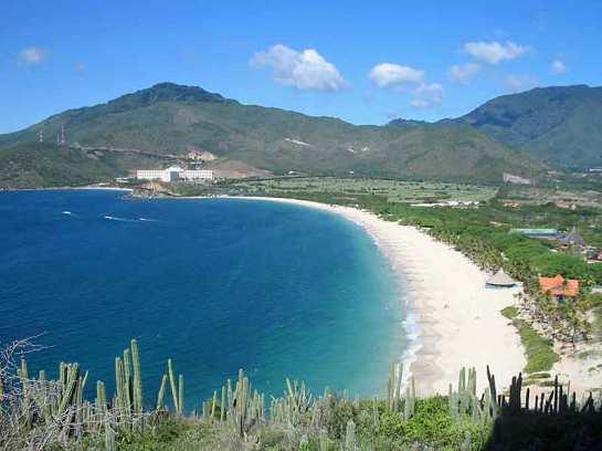 The beach at Puerto Cruz on Isla Margarita was nice.