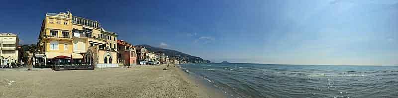 Alassio beach pictured in April 2015.