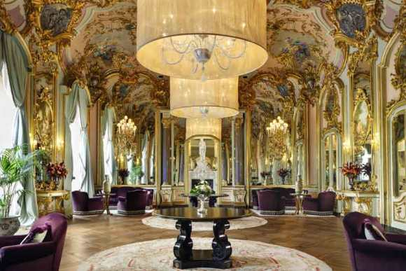 The grand salon at Villa Cora, Florence.