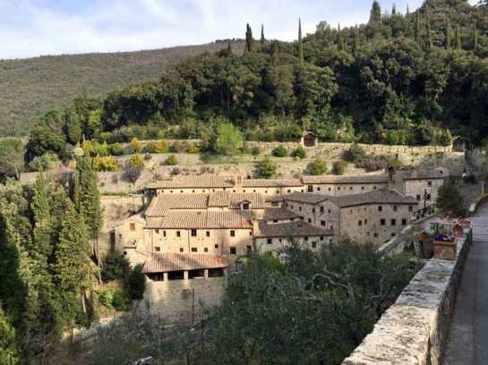 Le Celle Monastery is not far from Cortona.