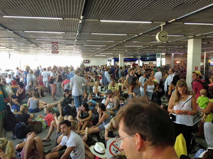 Split airport is crowded at times!