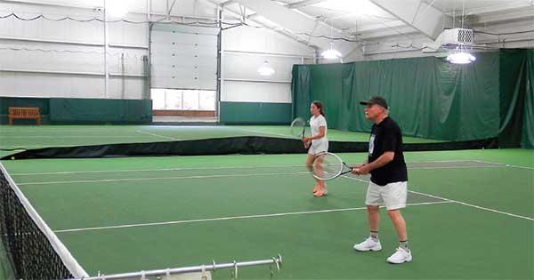 New lights make for a brighter Vineyard Tennis Center