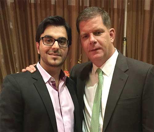 Boston Mayor Martin Walsh and ThinkLite COO-CFO Danny Wadhwani