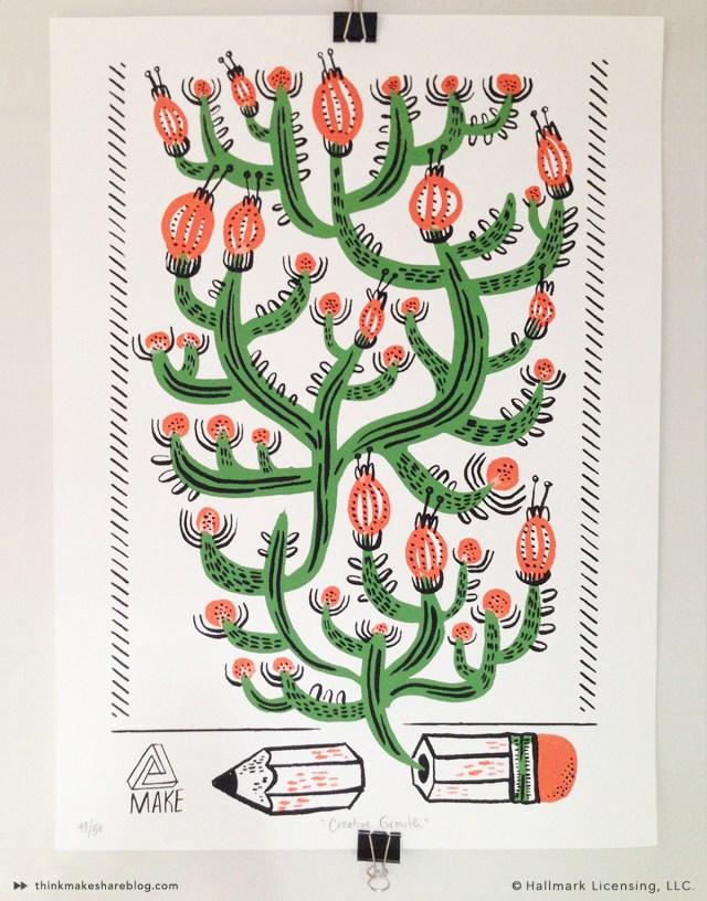 5 Points Cactus Print by Allie Rotenberg | thinkmakeshareblog.com