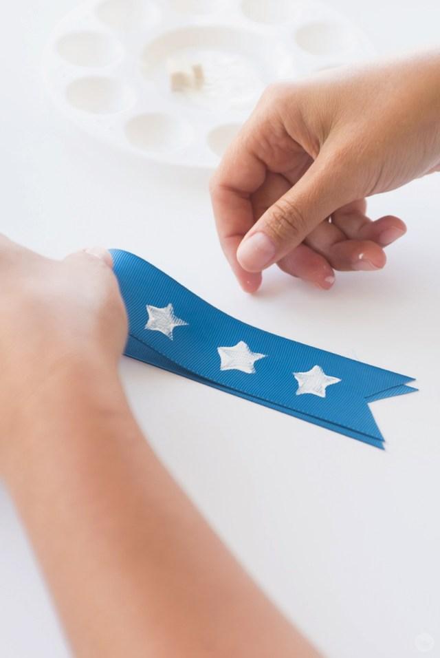 A star-spangled blue ribbon.