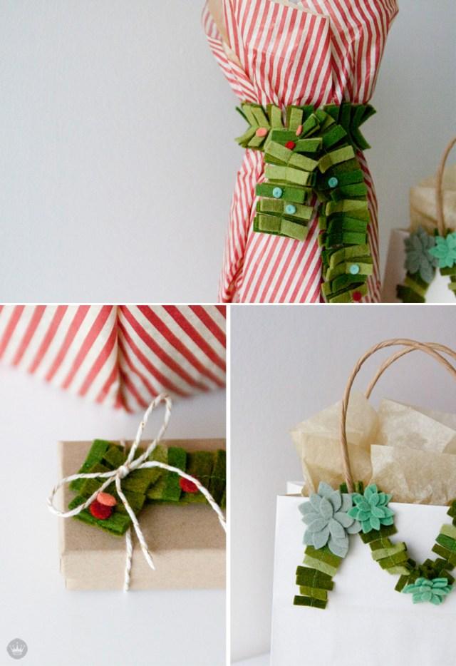 A felted holiday | felt holiday crafts from Hallmark artists | thinkmakeshareblog.com